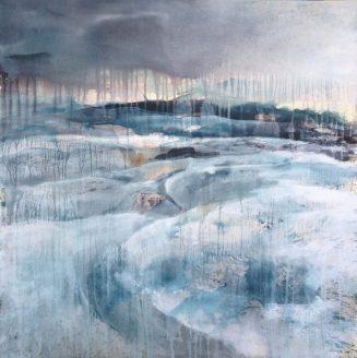 100 x 100 cm Encres et acrylique sur toile