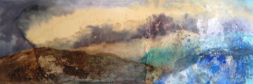 40 x 120 cm technique mixte sur toile