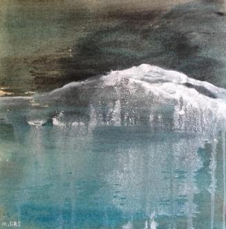 30 x 30 cm Encres et acrylique sur toile